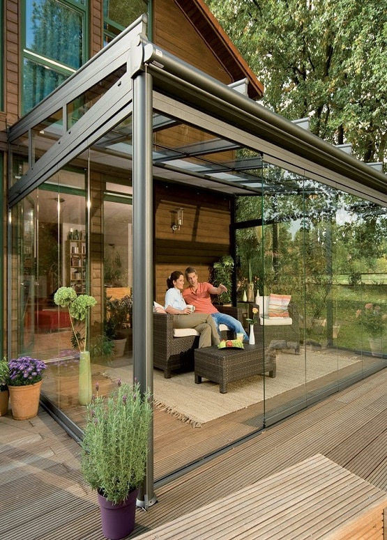 Acristalamientos sin perfiles de terrazas y porches - Porches para terrazas ...