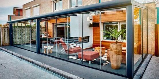 Divisi n de ambientes con cortinas de cristal - Cortinas separadoras de ambientes ...